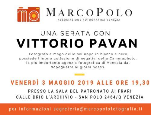 Serata con Vittorio Pavan