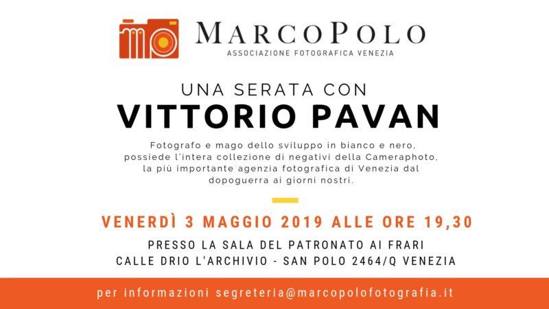 Serata con Vittorio Pavan - Camera Photo