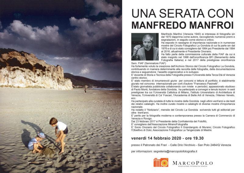 Invito serata con Manfredo Manfroi