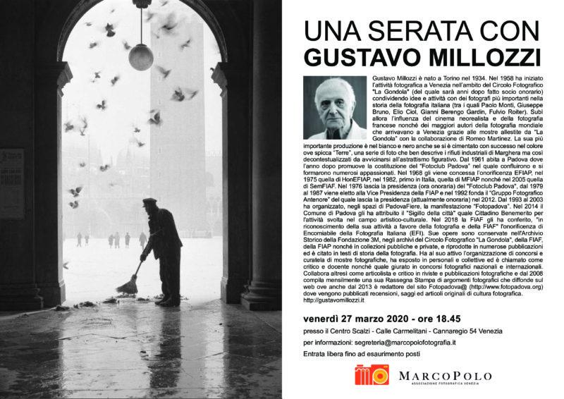 Gustavo Millozzi serata con l'autore poster